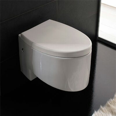 Scarabeo by Nameeks Zefiro Wall Mounted Elongated 1 Piece Toilet