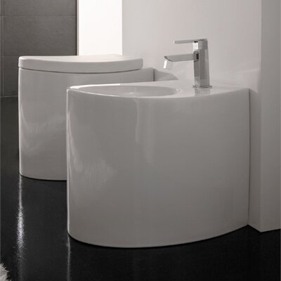 Scarabeo by Nameeks Zefiro Floor Mount Bidet in White