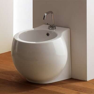 Scarabeo by Nameeks Planet Floor Mounted Bidet in White