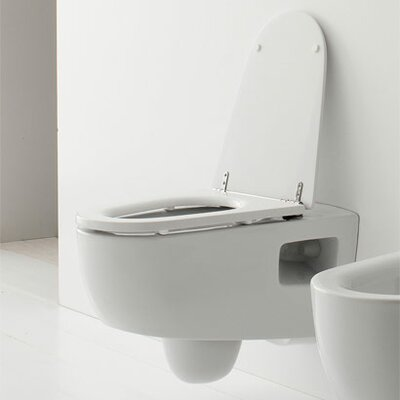 Scarabeo by Nameeks Tizi Wall Mounted Elongated 1 Piece Toilet