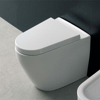 Scarabeo by Nameeks Tizi Floor Mounted Elongated 1 Piece Toilet