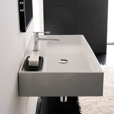 Scarabeo by Nameeks Teorema R 80 Wall Mounted Bathroom Sink in White