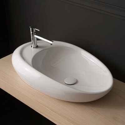 Moai Vessel Bathroom Sink with Single Faucet Hole - Moai 71/R ART 8602