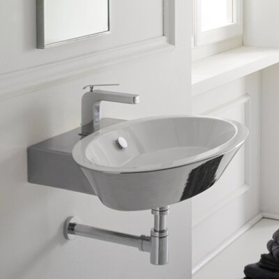 Scarabeo by Nameeks Wish Thin Edge Wall Mount Bathroom Sink