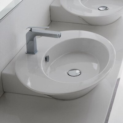 Scarabeo by Nameeks Wish Thick Edge Wall Mount or Vessel Bathroom Sink