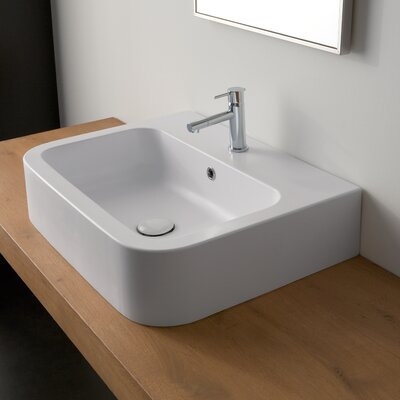 Counter Single Hole Bathroom Sink - Art. 8094 Features: -Bathroom sink ...