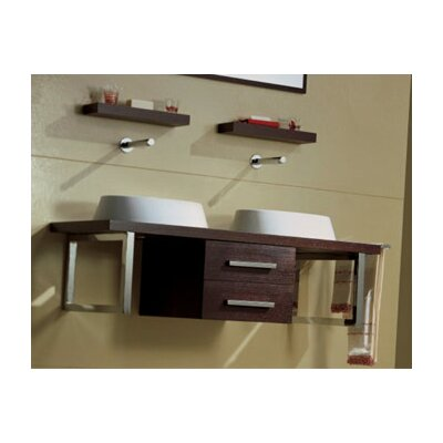 "Scarabeo by Nameeks Brio 47.2"" Wall Mounted Bathroom Vanity Set"