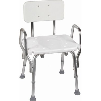 Briggs Healthcare Shower Chair with Arms and Back Rest