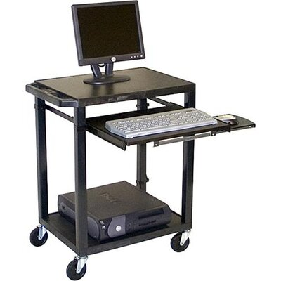 H. Wilson Company Tuffy Plastic Computer Workstation with Keyboard Pullout Tray