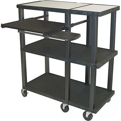 H. Wilson Company Tuffy Open Shelf  Presentation Station with Black Legs