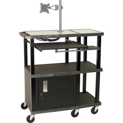 H. Wilson Company Tuffy Extra Wide Presentation Station with Monitor Mount