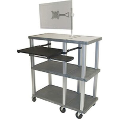 H. Wilson Company Tuffy Open Shelf Presentation Station with Monitor Mount