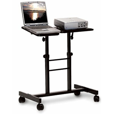 H. Wilson Company Mobile Laptop Presentation Stand with Dual Adjustable Platforms