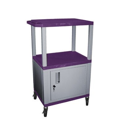 H. Wilson Company Tuffy Utility AV Cart with Cabinet