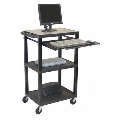 H. Wilson Company Tuffy Plastic Three-Shelf Computer Workstation