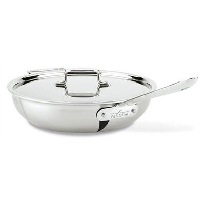 All-Clad d5 Brushed Stainless 4-qt. Saute Pan with Lid