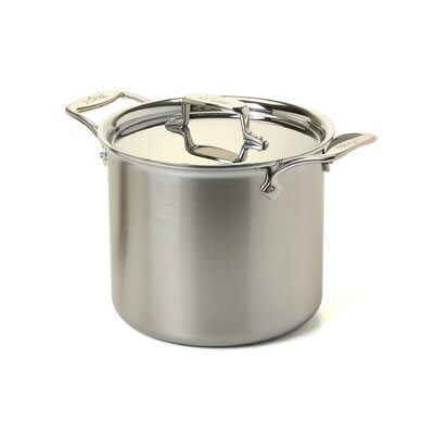 All-Clad d5 Brushed Stainless Steel 7-qt. Tall Stock Pot with Lid