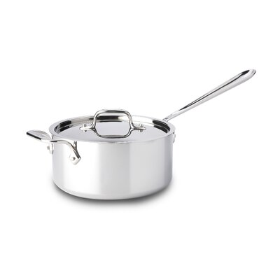 All-Clad Stainless Steel Saucepan with Loop and Lid