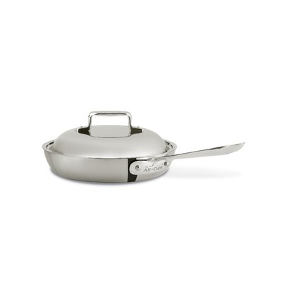 All-Clad d5 Brushed Stainless Steel French Skillet with Lid