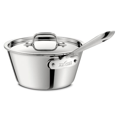 All-Clad Stainless Steel 1.5-qt Saucepan with Lid
