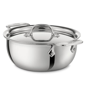 Stainless Steel 3-qt. Round Cassoulet with Lid