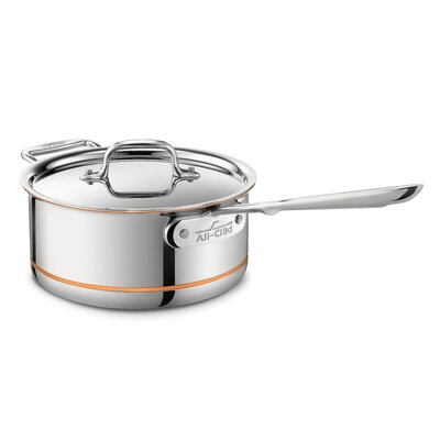 All-Clad Copper Core Saucepan with Loop and Lid