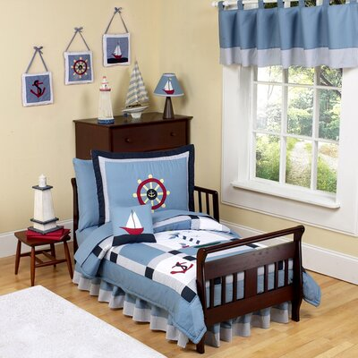 Sweet Jojo Designs Come Sail Away Toddler Bedding Collection