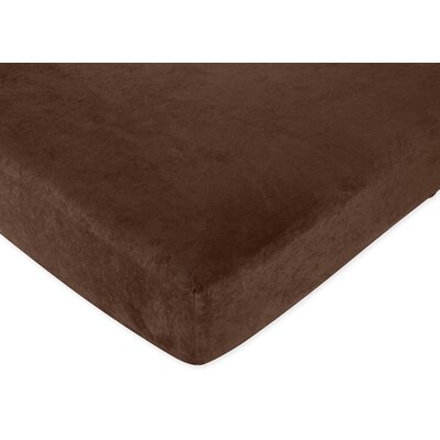 Brown Fitted Crib Sheet