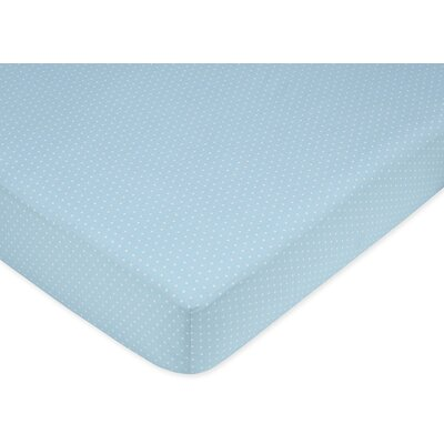 Sweet Jojo Designs Mod Dots Mini Dot Fitted Crib Sheet