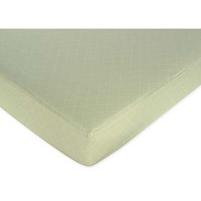 Sweet Jojo Designs Argyle Green Fitted Crib Sheet