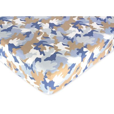 Sweet Jojo Designs Camo Printed Fitted Crib Sheet