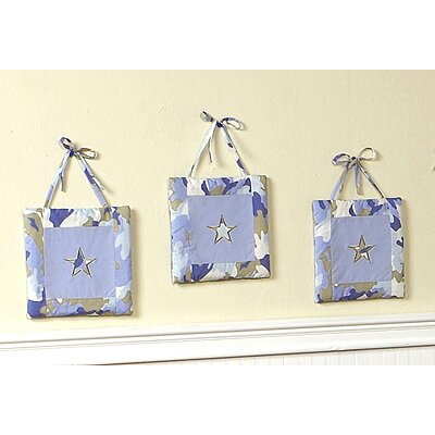 Sweet Jojo Designs Camo Blue Collection Wall Hangings