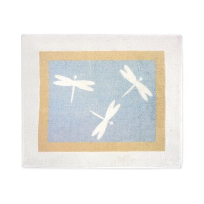 Sweet Jojo Designs Blue Dragonfly Dreams Collection Floor Rug