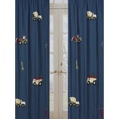 Sweet Jojo Designs Construction Curtain Panel  (Set of 2)