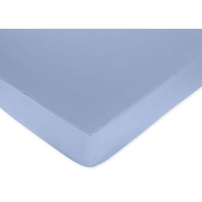 Sweet Jojo Designs Blue Fitted Crib Sheet