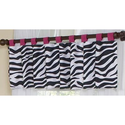 Sweet Jojo Designs Zebra Cotton Tab Top Curtain Valance