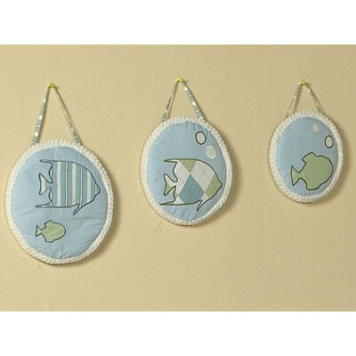 Sweet Jojo Designs Go Fish Collection Wall Hangings 3 Piece Set