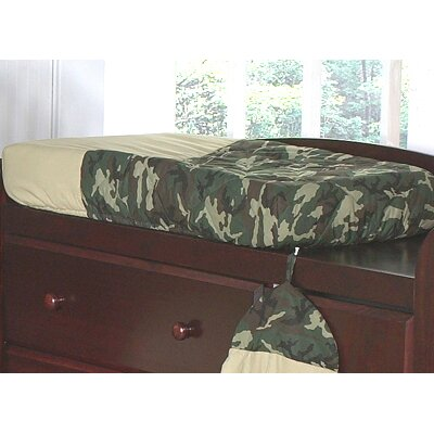 Sweet Jojo Designs Camo Green Collection Changing Pad Cover