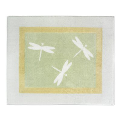 Sweet Jojo Designs Green Dragonfly Dreams Collection Floor Rug