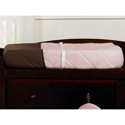 Sweet Jojo Designs Hotel Pink and Brown Collection Changing Pad Cover