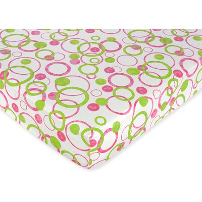 Sweet Jojo Designs Mod Circles Fitted Crib Sheet
