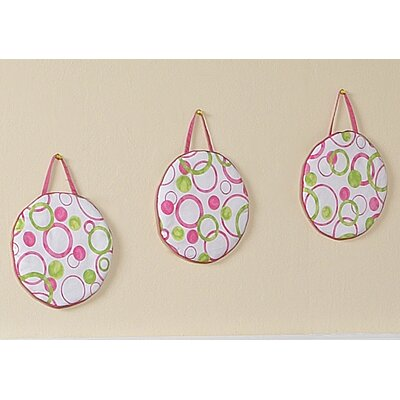 Sweet Jojo Designs Circles Pink Collection Wall Hangings