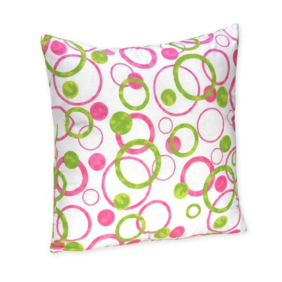Sweet Jojo Designs Circles Pink Decorative Pillow
