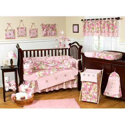 Sweet Jojo Designs Pink and Khaki Camo Crib Bedding Collection