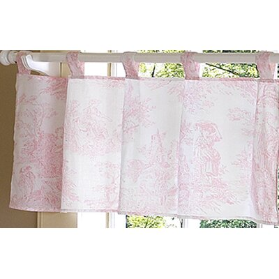Sweet Jojo Designs Pink Toile Cotton Curtain Valance