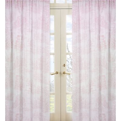 Sweet Jojo Designs Pink Toile Cotton Curtain Panel
