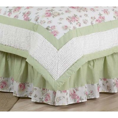 Sweet Jojo Designs Riley's Roses Collection Toddler Bed Skirt