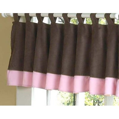 Sweet Jojo Designs Soho Pink and Brown Collection Window Valance
