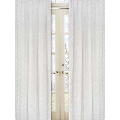 Sweet Jojo Designs Eyelet White Collection Window Panels