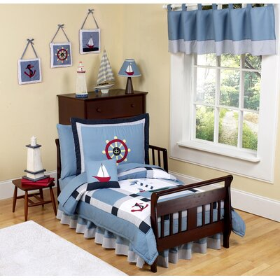 Sweet Jojo Designs Come Sail Away Toddler Bedding Collection 5 Piece Set